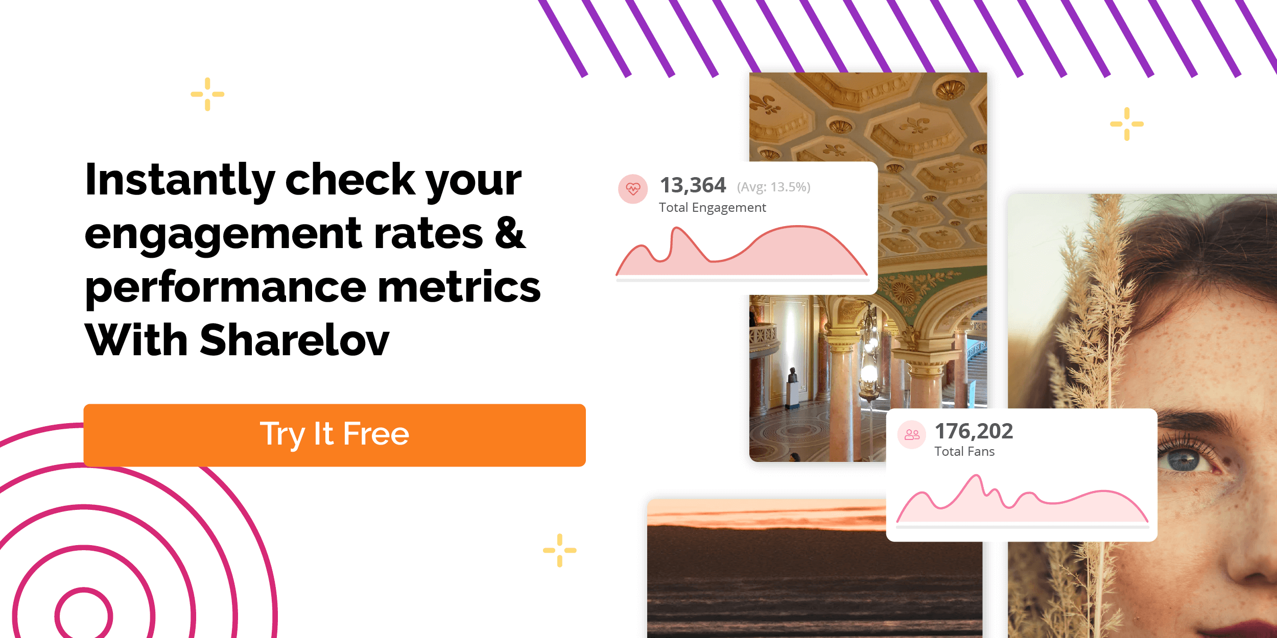 Instantly check your engagement rates & performance metrics