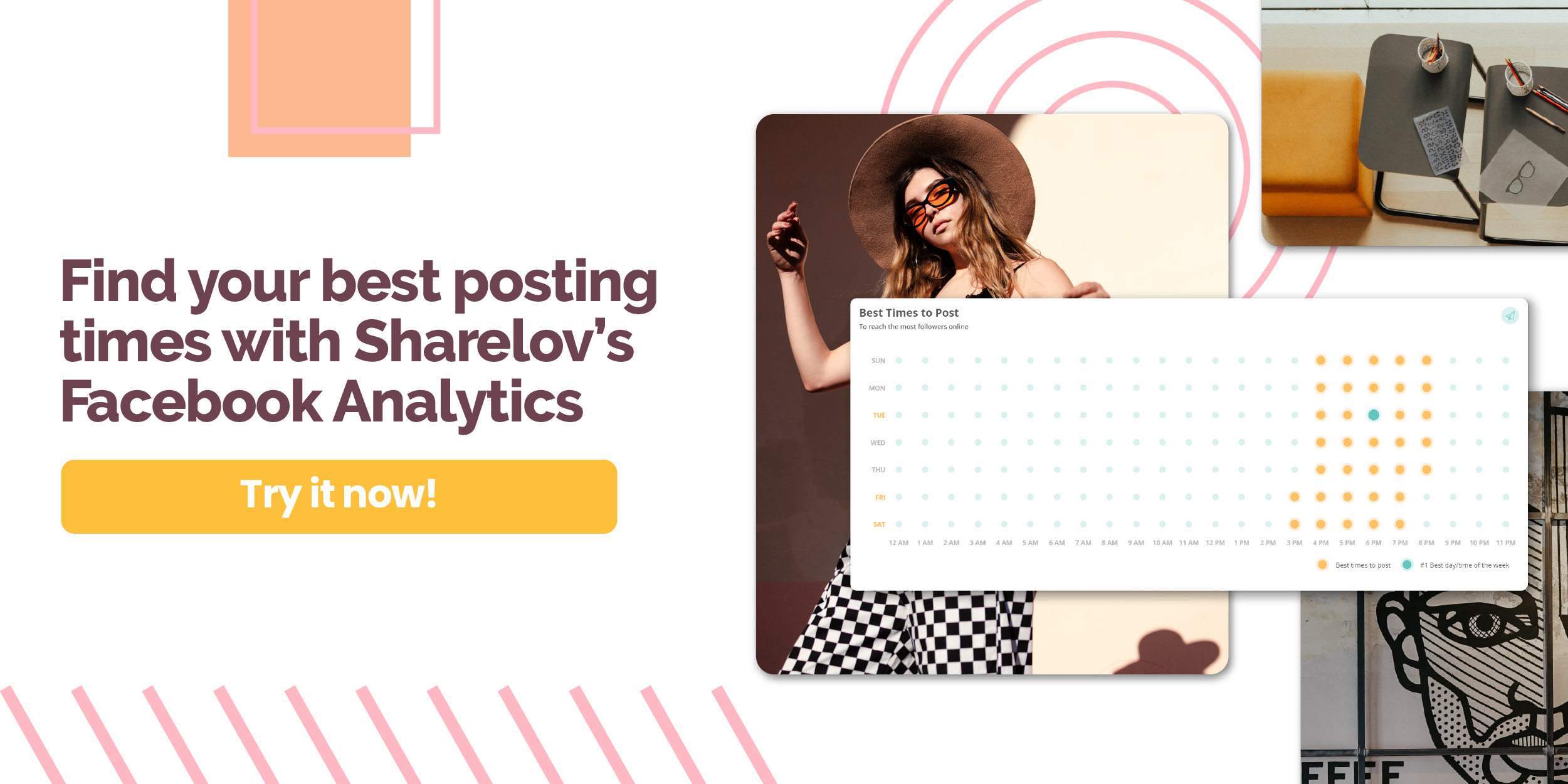 Find your best posting times with Sharelov's Facebook Analytics