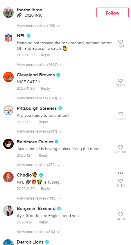 Footballbros viral video NFL comments