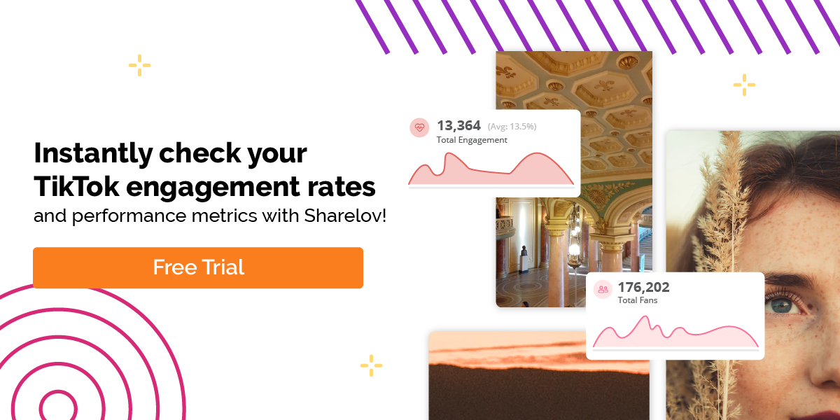 Instantly check your TikTok engagement rates and performance metrics with Sharelov!