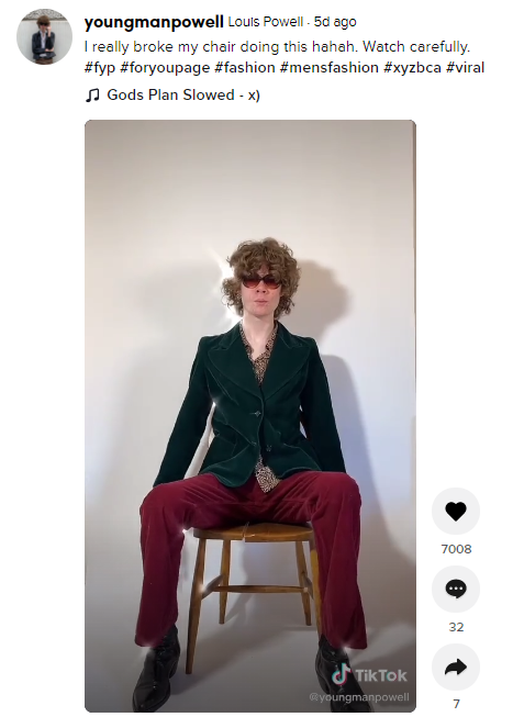 youngmanpowell fashion influencer tiktok 3