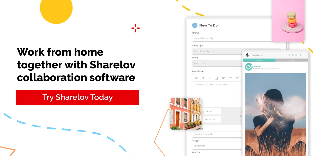 work from home together with sharelov collaboration software