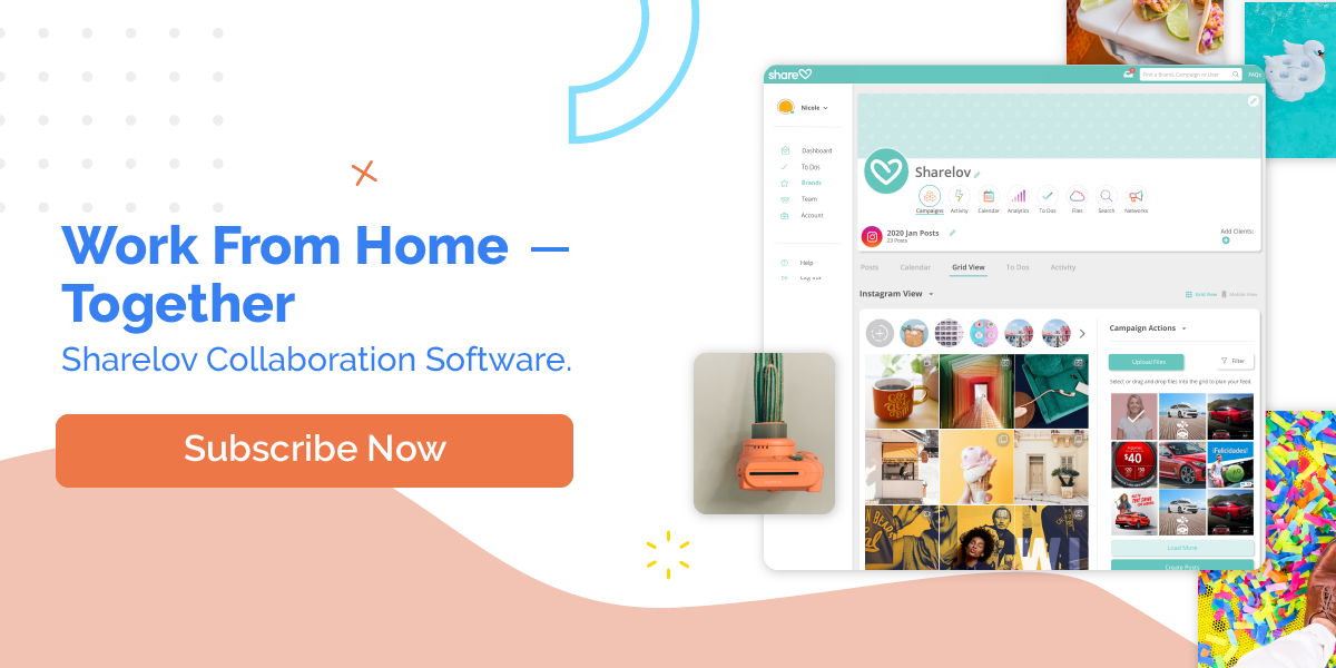 Work From Home -- Together Sharelov Collaboration Software
