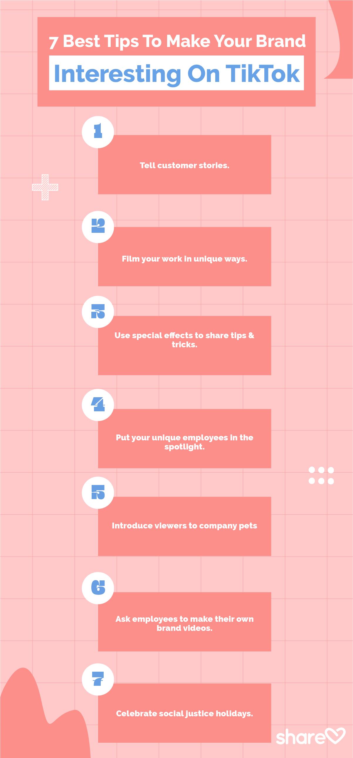 7 Tips To Make Your Brand Interesting On TikTok
