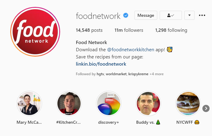 Foodnetwork Highlights example