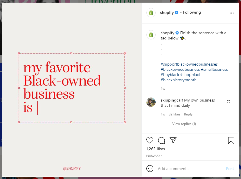 Shopify caption interactive example
