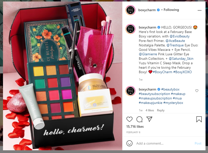 boxycharm drop a heart example