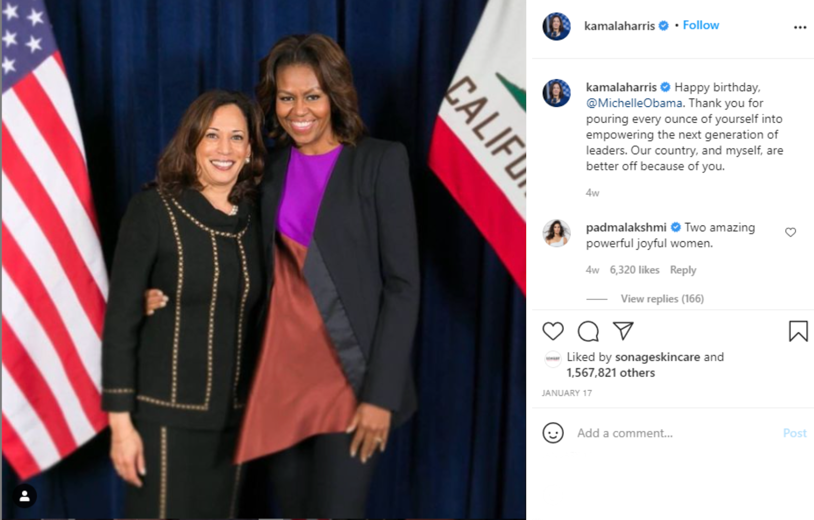 Kamala Instagram mentions example