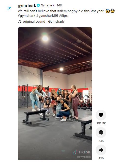 gymshark tag example tiktok