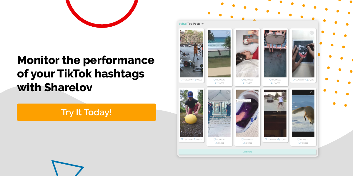Monitor the performance of your TikTok hashtags with Sharelov.