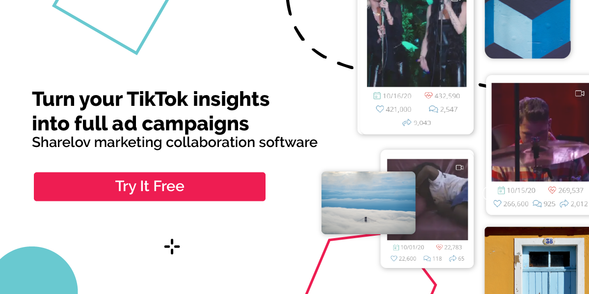 Turn your TikTok insights into full ad campaigns Sharelov marketing collaboration software