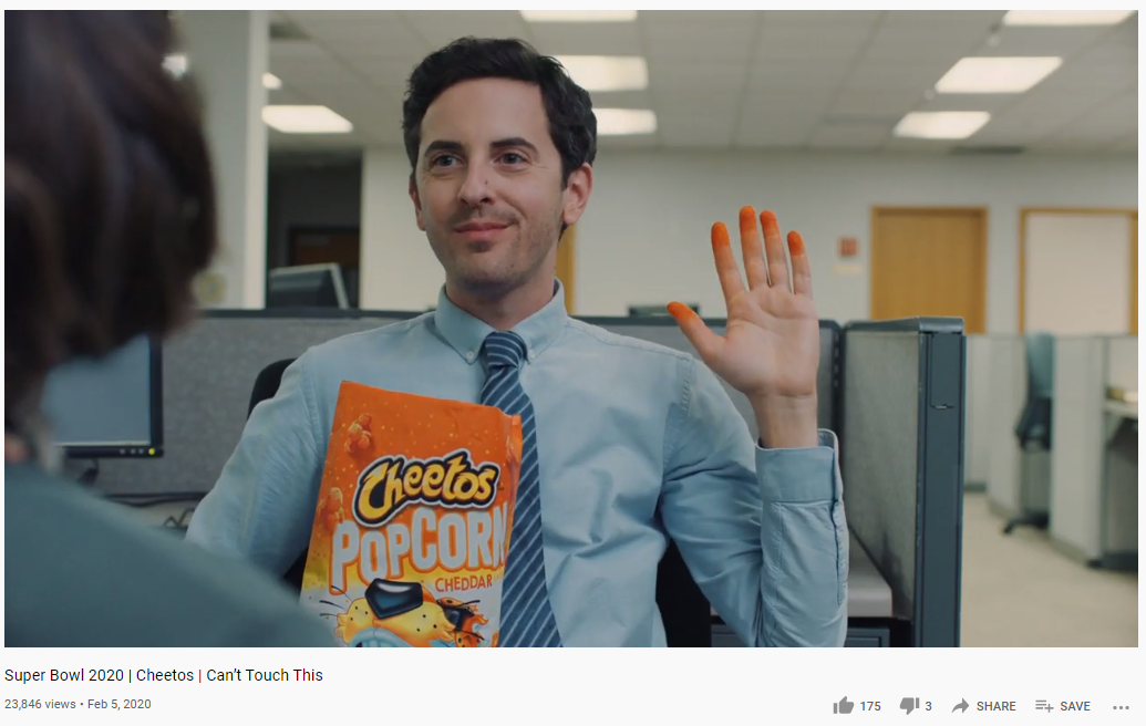 cheetos superbowl ad 2020