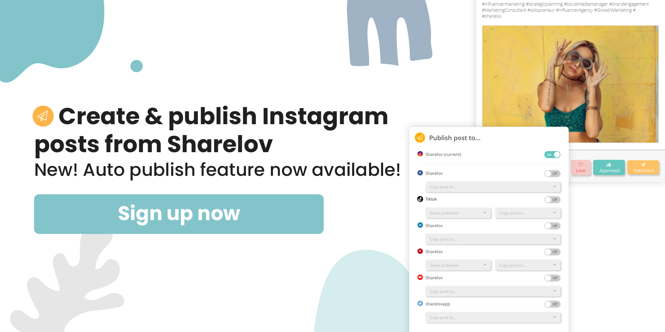 create and publish instagram post from sharelov
