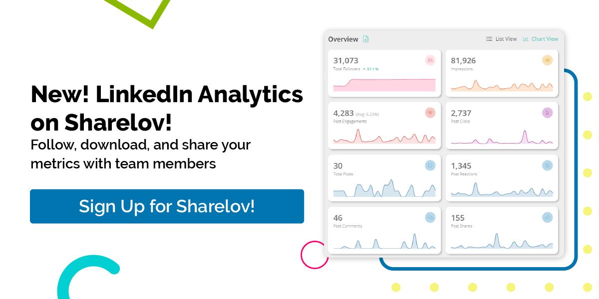 new! LinkedIn Analytics on Sharelov