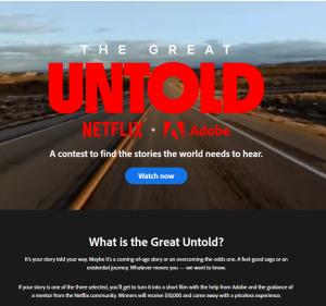 Netflix Adobe TikTok link landing page