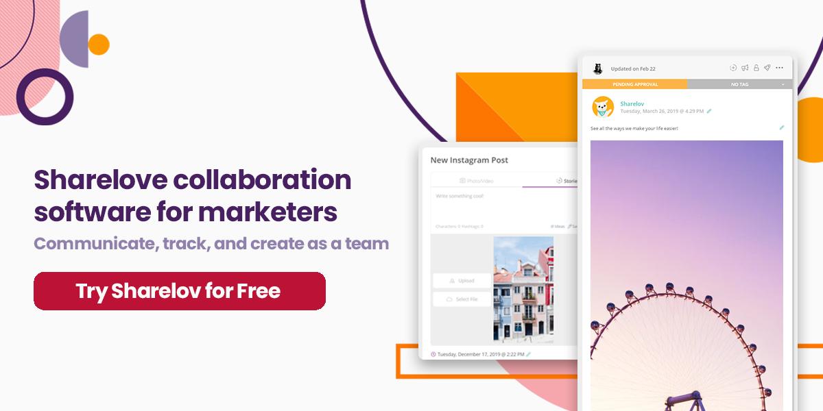 Sharelov collaborabtion software for marketers