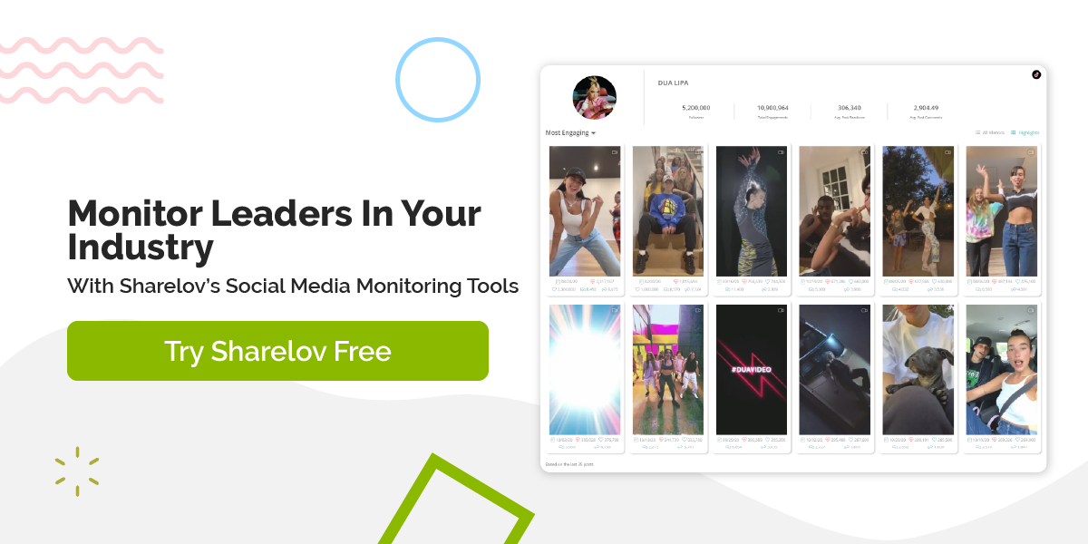 Monitor Leaders In Your Industry With Sharelov's Social Media Monitoring Tools Try Sharelov Free