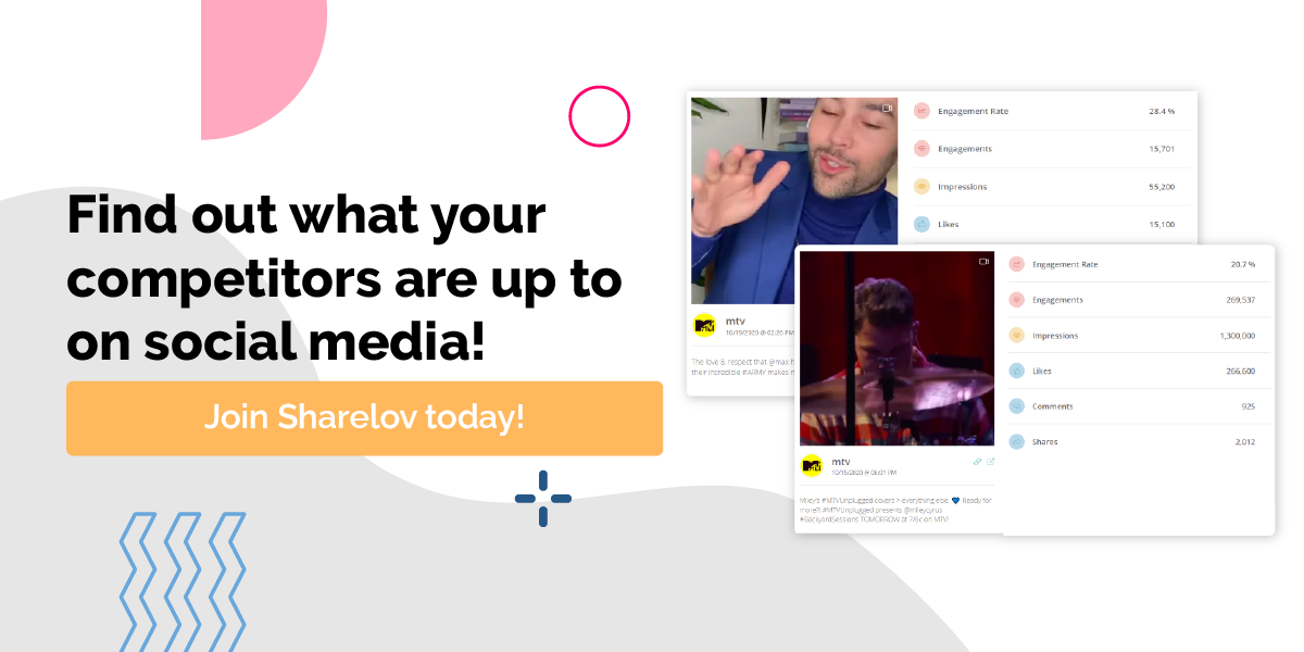 Find out what your competitors are up to on social media! Monitor your competitors with Sharelov Subscribe Now