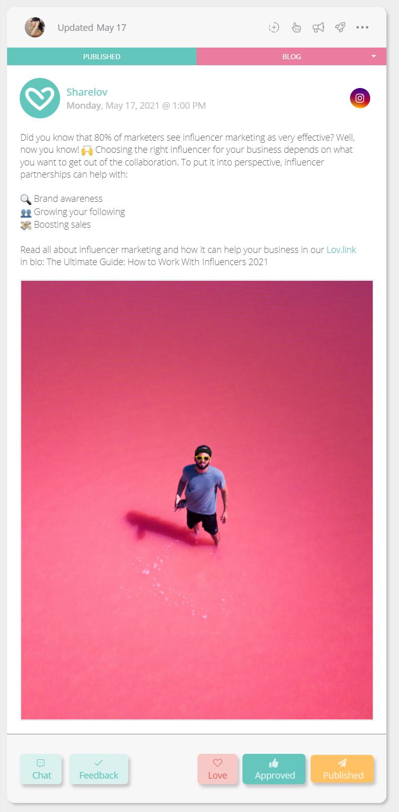 Social Media Post Preview