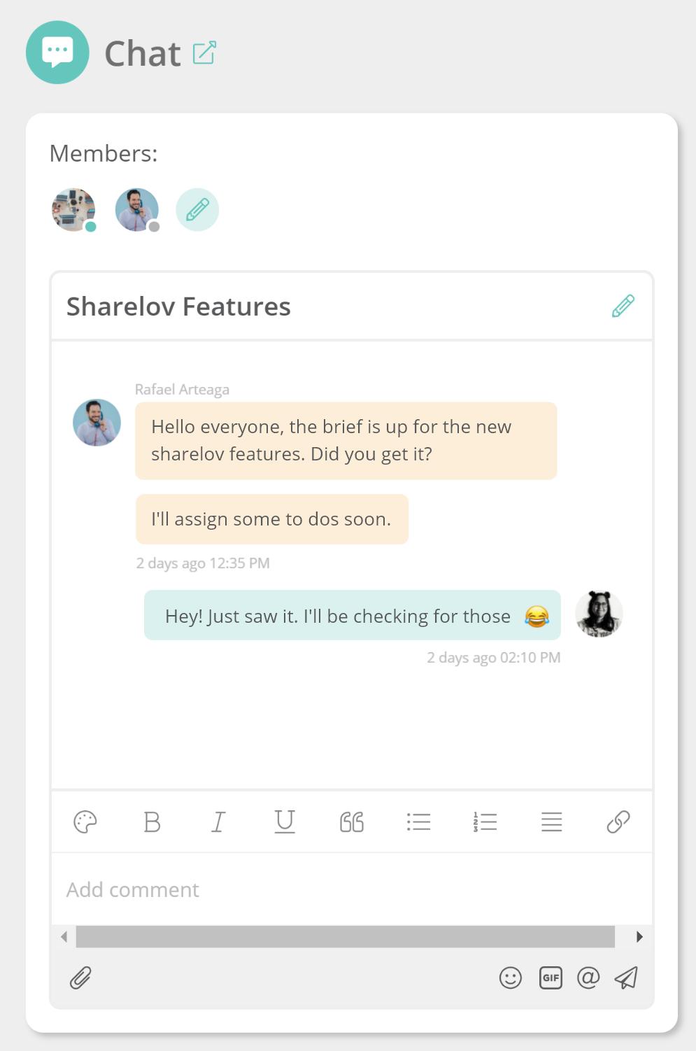 Sharelov Chat