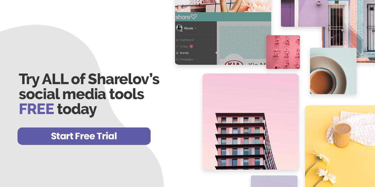 Try ALL of Sharelov's social media tools FREE today