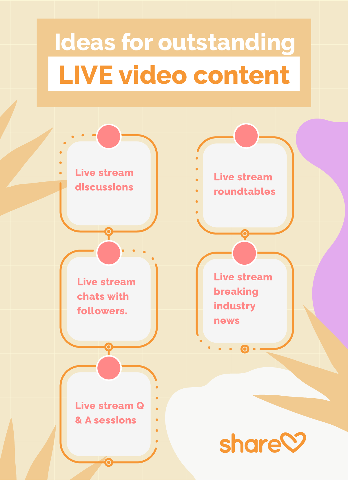 Ideas for outstanding LIVE video content