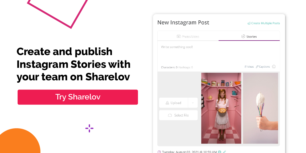 Create and publish Instagram Stories with your team on Sharelov