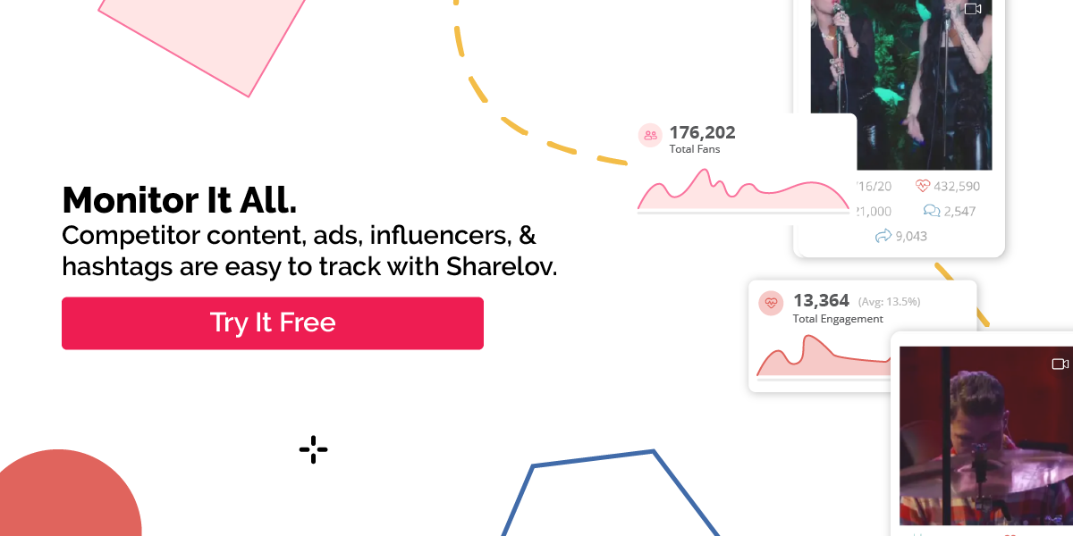 Monitor It All. Competitor content, ads, influencers, & hashtags are easy to track with Sharelov.