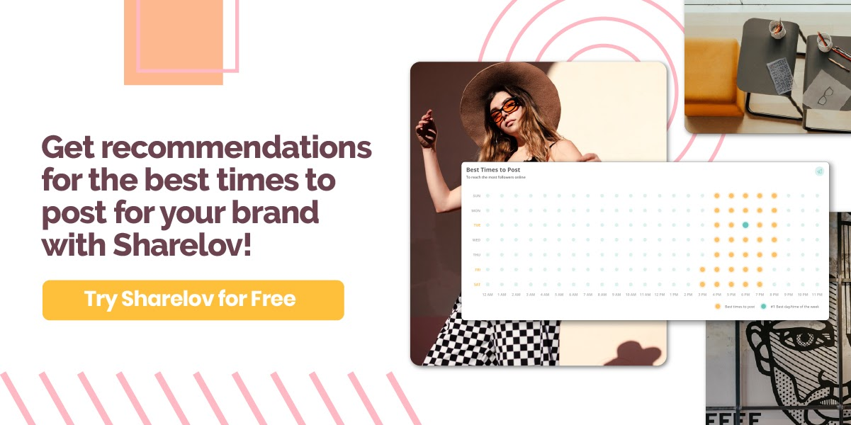 get recommendations for the best times to post for you brand with sharelov