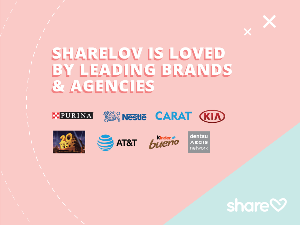 Sharelov is loved by leading brands and agencies